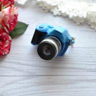 Мини фотоаппарат для куклы голубой