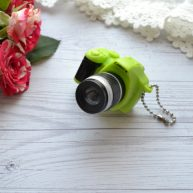Мини фотоаппарат для куклы зеленый