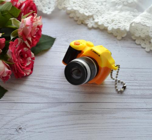 Мини фотоаппарат для куклы желтый 53*50*34мм