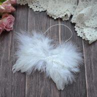 Крылья для куклы белые 12*10см