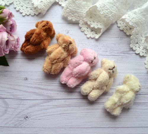 Мишка для куклы 6см молочный • ALB01 1