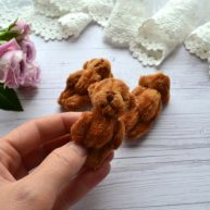 Мишка для куклы 6см коричневый