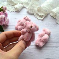 Мишка для куклы 6см розовый