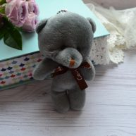 Мишка для куклы 10см серый