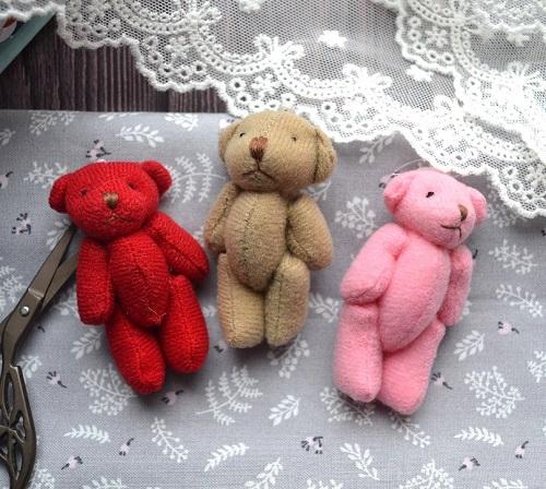 Мишка для куклы розовый 6 см • ALB24 1