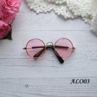 Очки для кукол розовые 8*2.6см ALO03