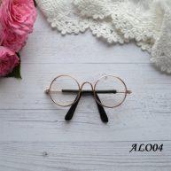 Очки для куклы с золотой оправой 8*2.6см ALO04
