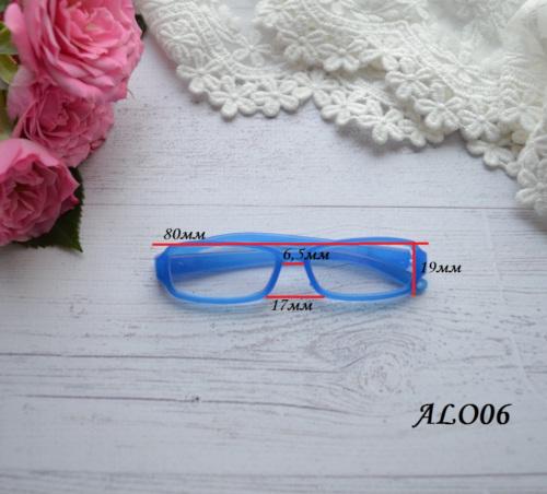 Очки  для куклы розовые 8*2см • ALO05 2