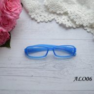 Очки  для куклы голубые 8*2см