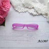 Очки  для куклы розовые 8*2см ALO07