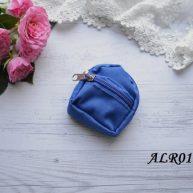 Рюкзак  для куклы синий