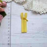Молния для кукольной одежды 6см желтая AZ602