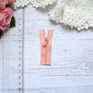 Молния для кукольной одежды 6см персиковая AZ603