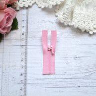 Молния для кукольной одежды 6см розовая
