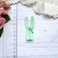 Молния для кукольной одежды 6см бледно-зеленая AZ606