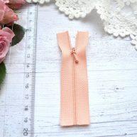 Молния для кукольной одежды 9см персиковая