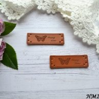 Нашивка «Hand Made» Бабочка