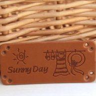 Нашивка «Hand Made» Sunny Day