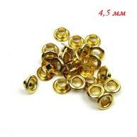 Люверсы 4,5 мм золото