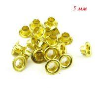 Люверсы 5 мм золотые