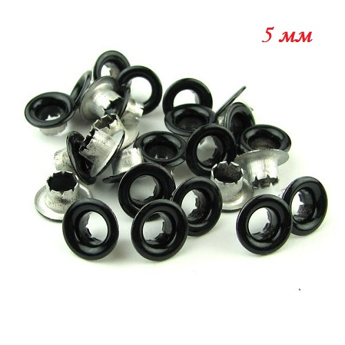 • Люверсы черные. Размер 5мм Цена указана за 10 шт.
