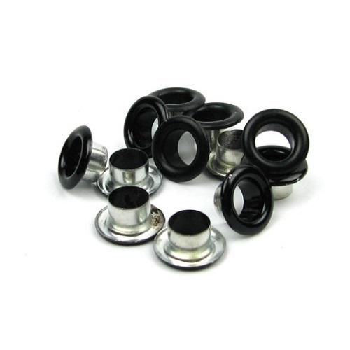 • Люверсы черные. Размер 6 мм Цена указана за 1 шт.