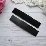 Липучка для кукольной одежды черная 2см