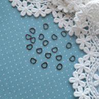 Полукольцо для кукольной одежды черное серебро 5мм
