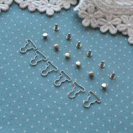Застежка серебро для кукольной одежды MF61