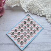 Кнопки пришивные для кукольной одежды серебро 6мм MF68