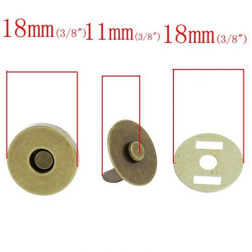• <h5>Магнитная кнопка серебро</h5> Цвет: серебро. Диаметр 14 мм. Цена указана за 1 шт.