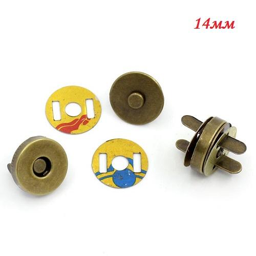Магнитная кнопка бронза 14 мм • AB003
