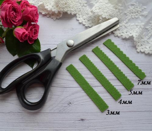 • Ножницы волна для фетра и сыпучих тканей.  Подходят для декора фетра, кожи и для обработки сыпучих тканей.  Длина ножниц: 23,5 см.  Цена указана за 1 шт.