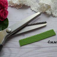 Ножницы для сыпучих тканей волна 4 мм