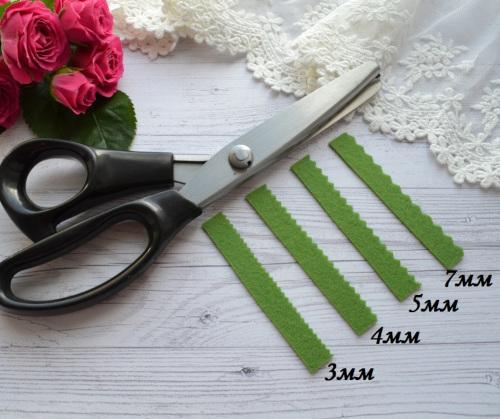 Ножницы для сыпучих тканей зиг-заг 5 мм • AS019 1