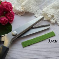 Ножницы для сыпучих тканей зиг-заг 3 мм