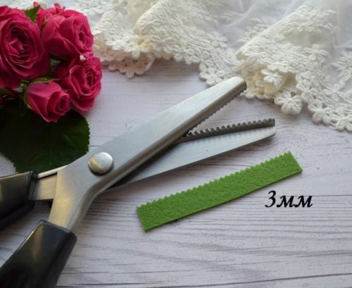 • Ножницы зиг-заг 3 мм . Длина ножниц 23,5см. Цена указана за 1 шт.