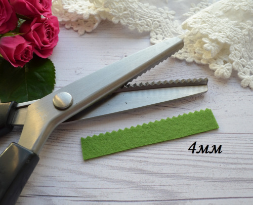 Ножницы для сыпучих тканей зиг-заг 4 мм • AS020