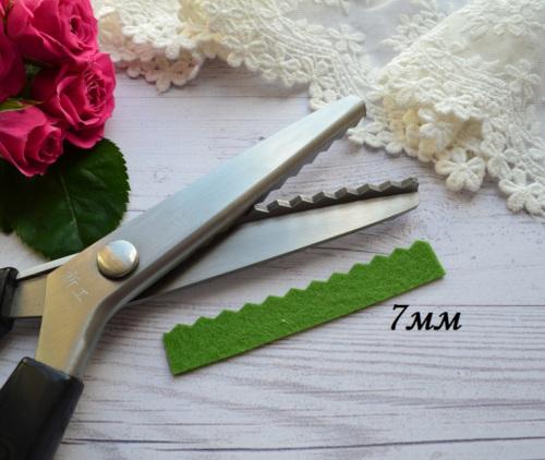 Ножницы зигзаг для фетра 7мм