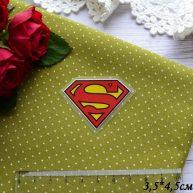 Термонаклейка Супермен 3,5*4,5см