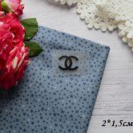 Термонаклейка Chanel черная 2*1,5 см