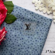 Термонаклейка  Louis Vuitton черная 1*1 см