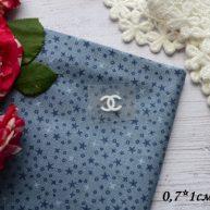 Термонаклейка Chanel белая 0,7*1 см