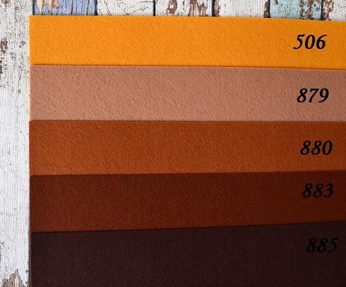 • <h5>Фетр жесткий темно-мандариновый. Остаток</h5>  Цена указана за 1 отрез.  1 отрез - 22*19 см.