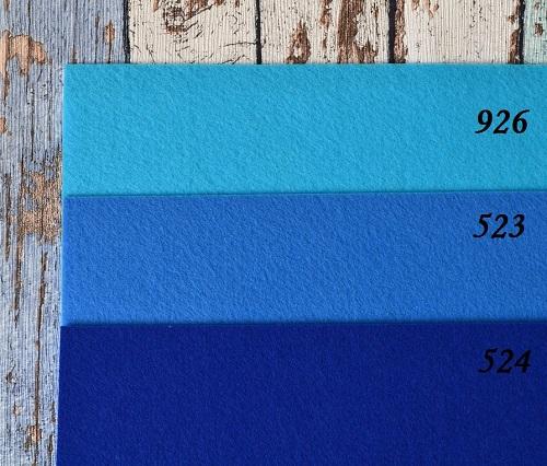 Фетр жесткий 1,2мм темно-синий F524 • F523 1