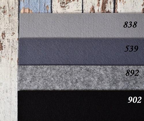 Фетр жесткий 1,2мм мокрый асфальт F539 • F838 1