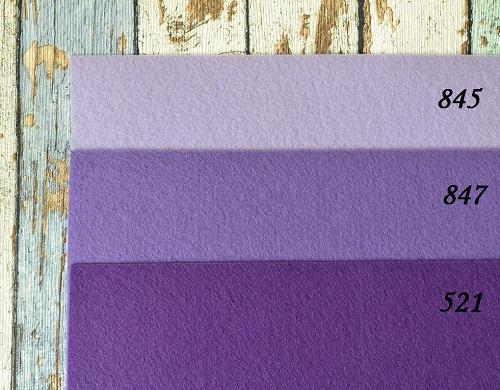 Фетр жесткий 1,2мм фиолетовый F847 • F845 1