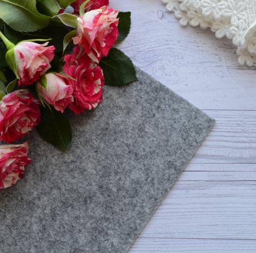 Фетр жесткий 1,2мм серый гранит F892 • F892
