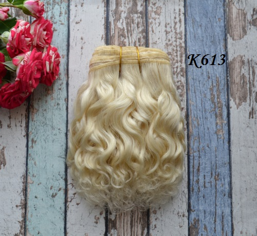 Волосы Козочка для кукол блонд К613