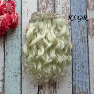Волосы Козочка для кукол салатовые 15см КLGR